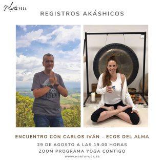 """Este domingo compartimos con Carlos Iván de  @ecosdelalmacali  desde Colombia, en el Programa Yoga Contigo, sobre un tema en el que llevo formándome hace unos meses… Registros Akáshicos 💙✨🌠 Registro Akáshico es un término que proviene del sánscrito """"akasha"""" y se refiere al quinto elemento, al éter, aquello que está en todo y lo contiene todo🙏🏻 ✨https://www.martayoga.es/programas/yoga-contigo-premium/ 💫https://www.martayoga.es/ #registrosakáshicos, #lecturaregistrosakashicosonline #programayogacontigo #yogaonline"""